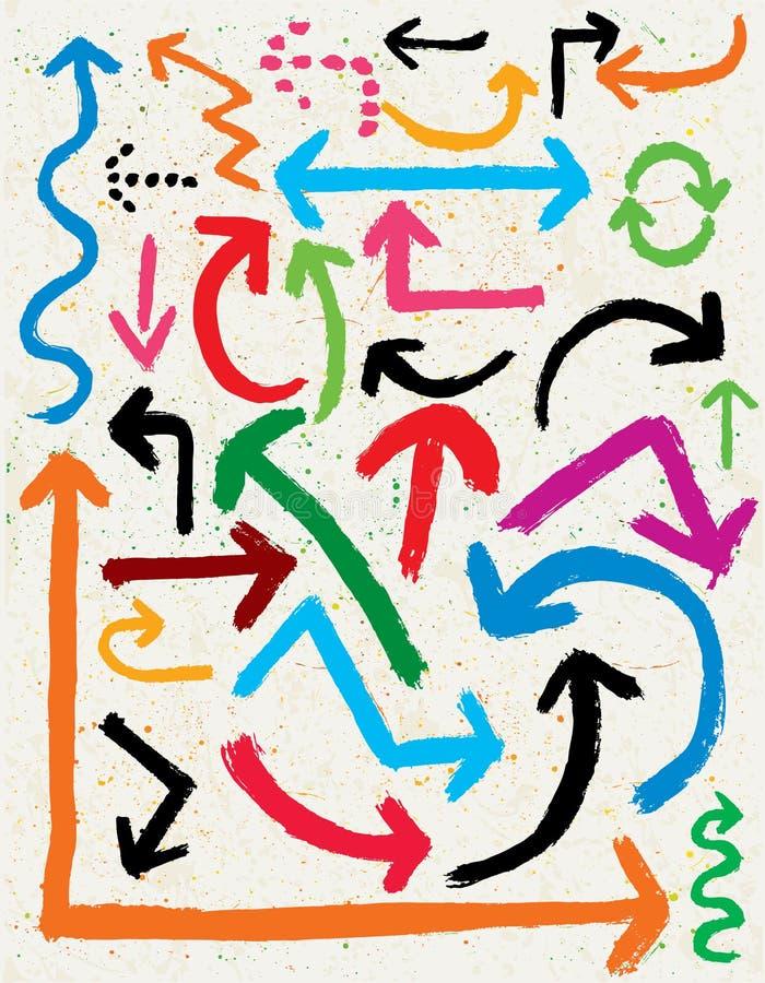 Download Grunge Arrows stock vector. Image of below, colorful - 25420700