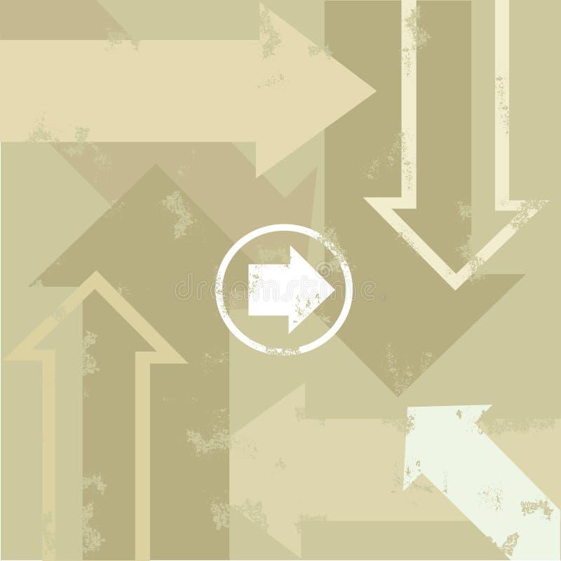 Grunge Arrows Stock Image