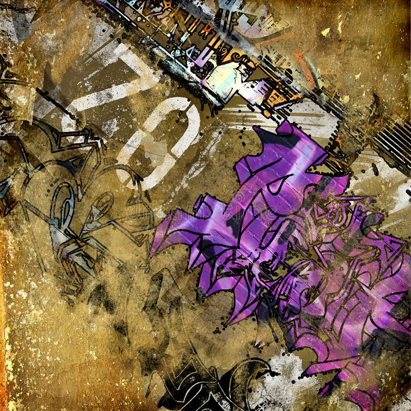 Grunge art royalty free illustration