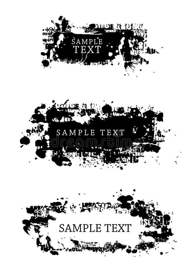 Grunge Art-Auslegungelemente vektor abbildung