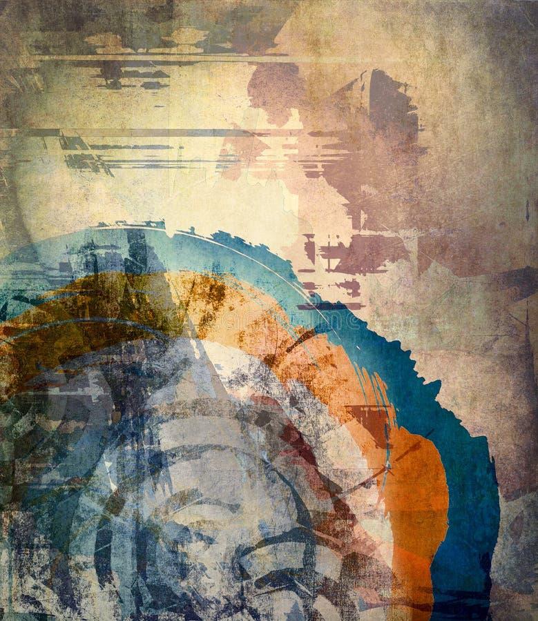 Grunge art background vector illustration