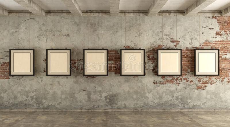 Grunge art gallery stock photography