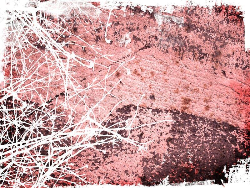 Grunge Art-Winterhintergrund lizenzfreie abbildung