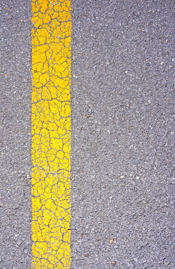 Grunge asphalt road with crack for texture background stock photo