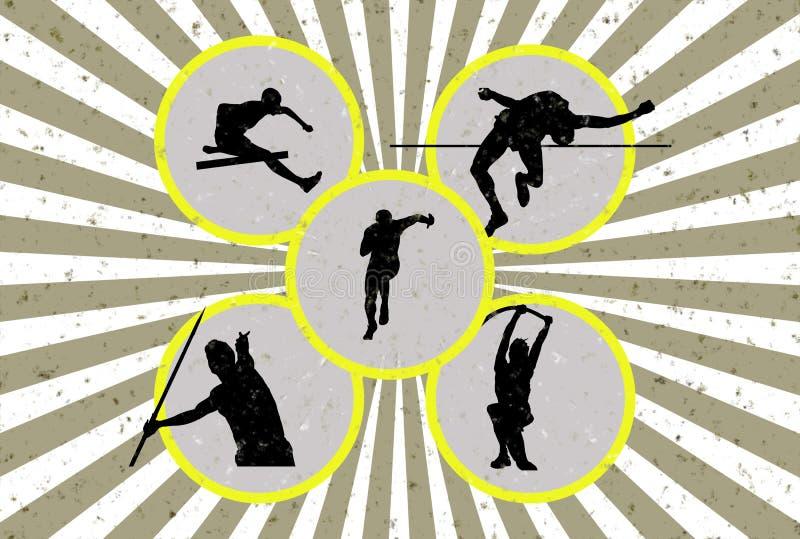 Grunge Athletik lizenzfreie abbildung