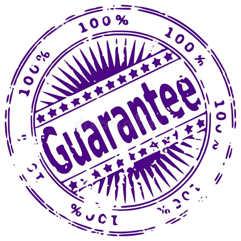 grunge atramentu gwarancji pieczęć royalty ilustracja