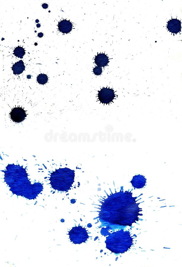 Grunge atramentu kropla ilustracja wektor