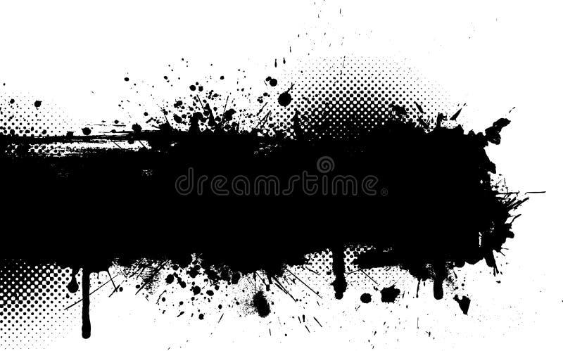 grunge atramentu splat ilustracji