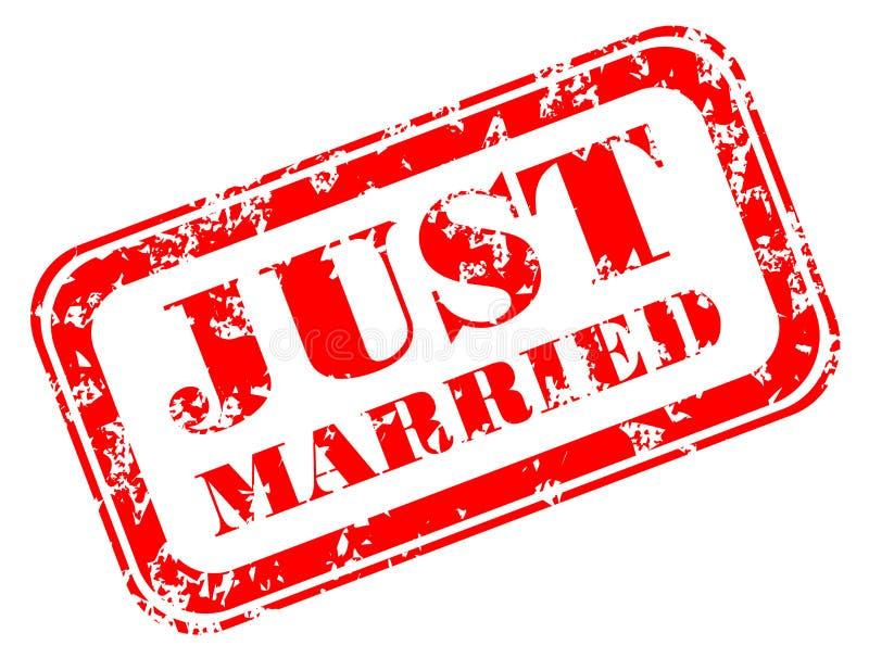 Grunge att gifta sig precis gummistämpeln stock illustrationer
