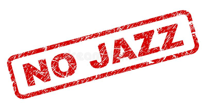 Grunge AUCUNE JAZZ Rounded Rectangle Stamp illustration libre de droits
