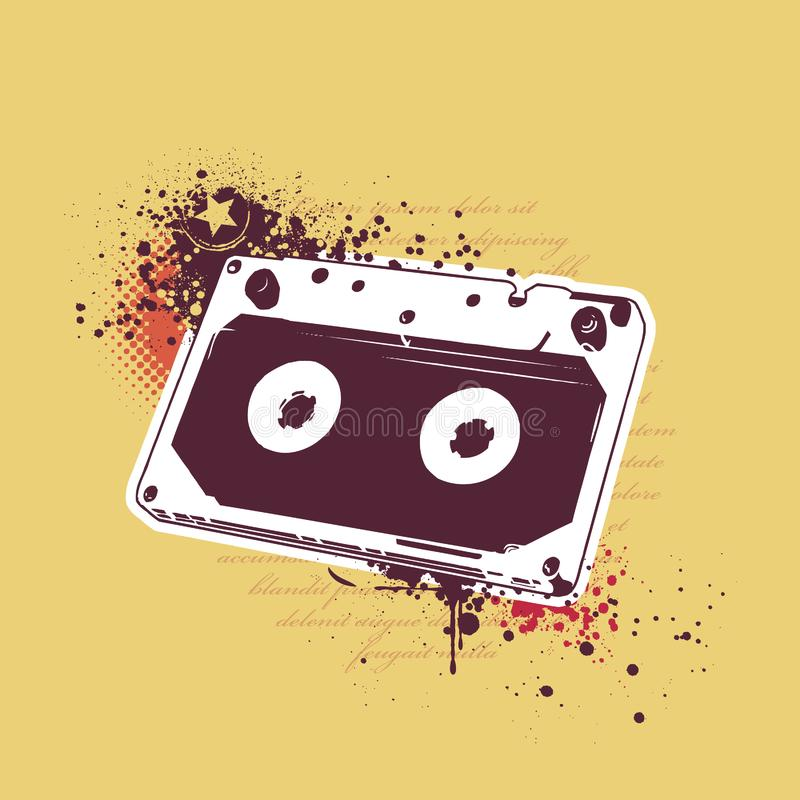 Download Grunge audio tape stock vector. Illustration of audio - 14378552