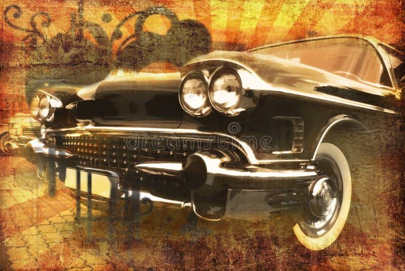 Grunge Auto lizenzfreie abbildung