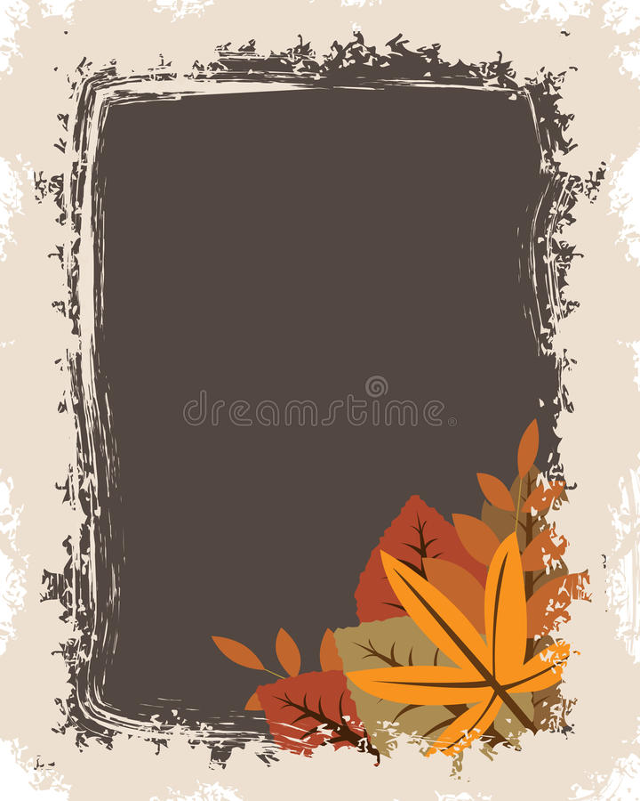 Download Grunge autumn frame stock vector. Image of leafs, border - 15973209