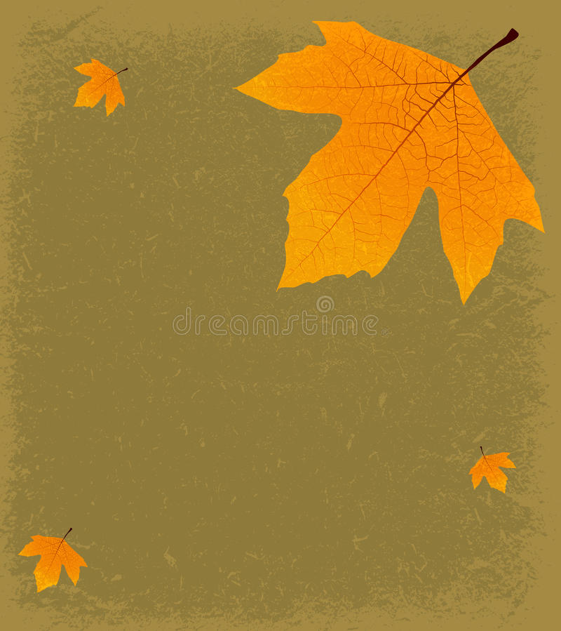 Download Grunge Autumnal Background stock vector. Image of graphic - 26482513