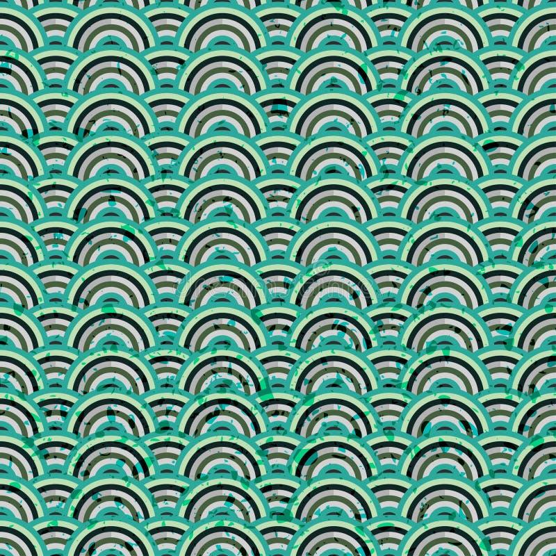 Grunge azul abstracto inconsútil ilustración del vector