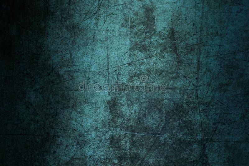 Grunge azul del extracto de la textura de la pared del fondo arruinado rasguñado fotografía de archivo