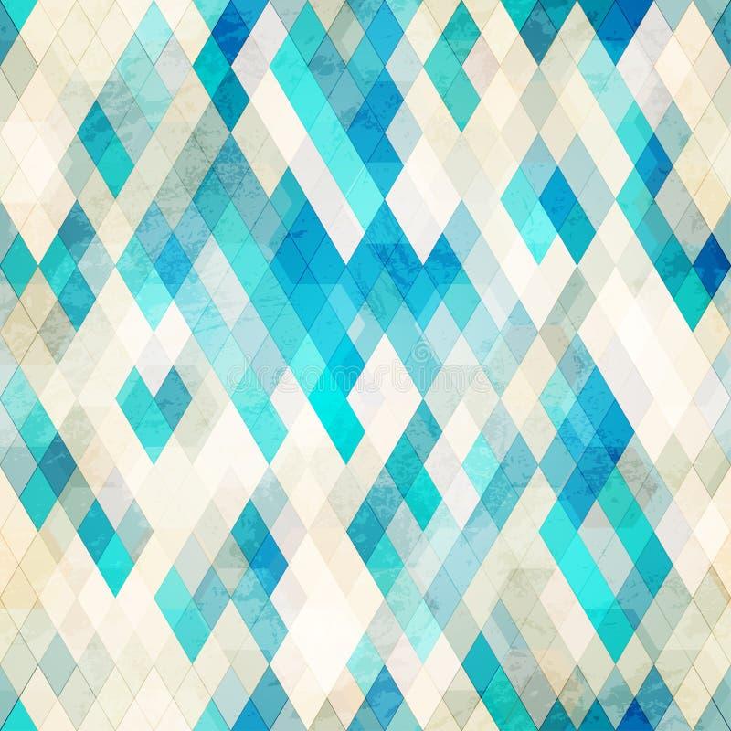 Grunge azul do romb sem emenda ilustração do vetor