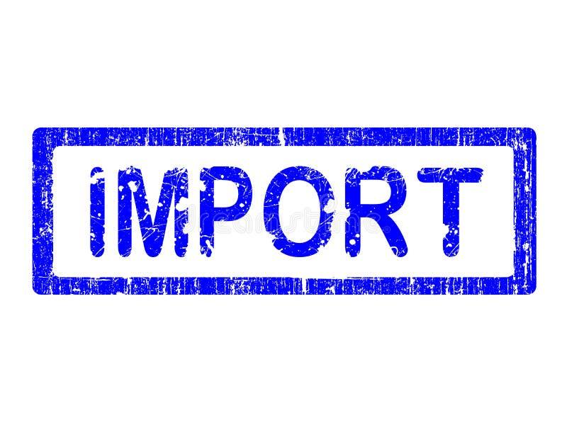 Grunge Büro-Stempel - IMPORT lizenzfreie abbildung