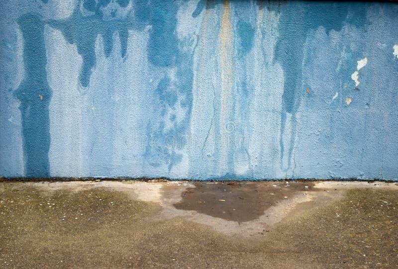 Grunge Błękitny ściana Obrazy Royalty Free