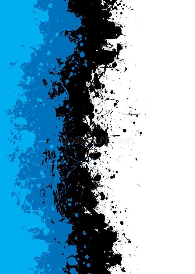 grunge błękitny splat ilustracja wektor