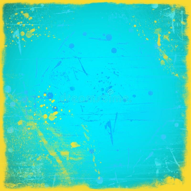 Grunge błękitny tło ilustracja wektor