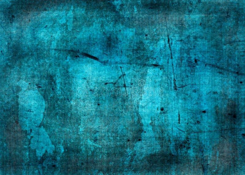 Grunge błękitny tekstura - błękitny tło z przestrzenią dla teksta ilustracja wektor
