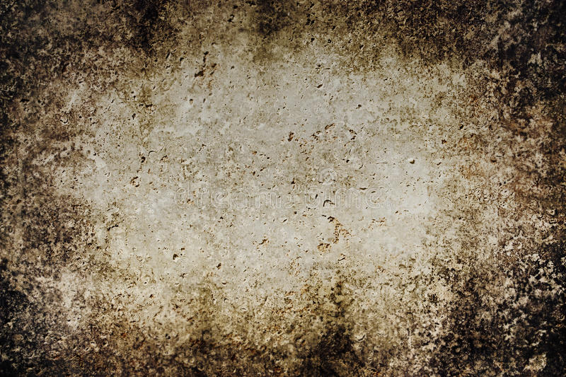 Grunge background. Obsolete brown grunge background with wall textures royalty free stock photography