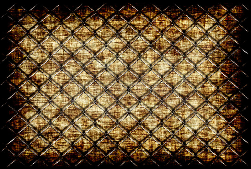 Grunge background. With a rusty chainlink on the front royalty free illustration