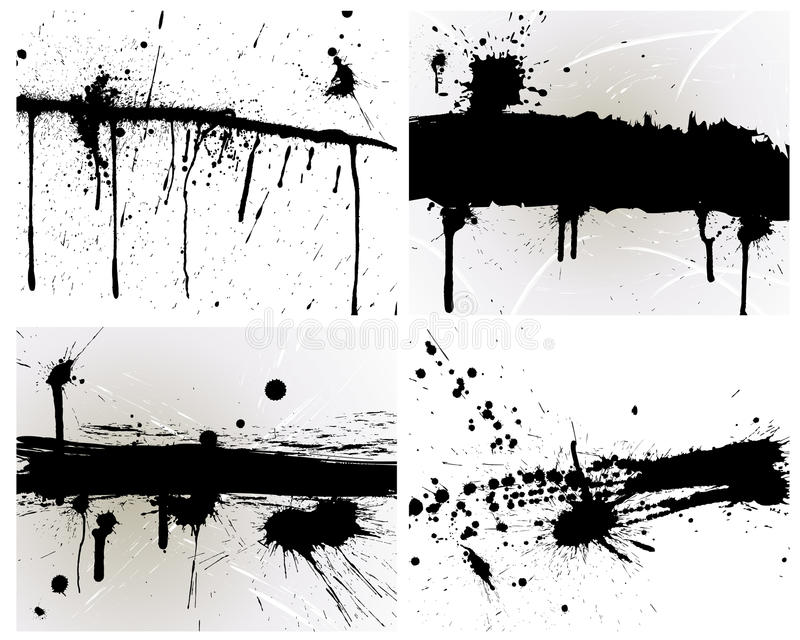 Grunge background. Abstract grunge vector blob set for design use royalty free illustration