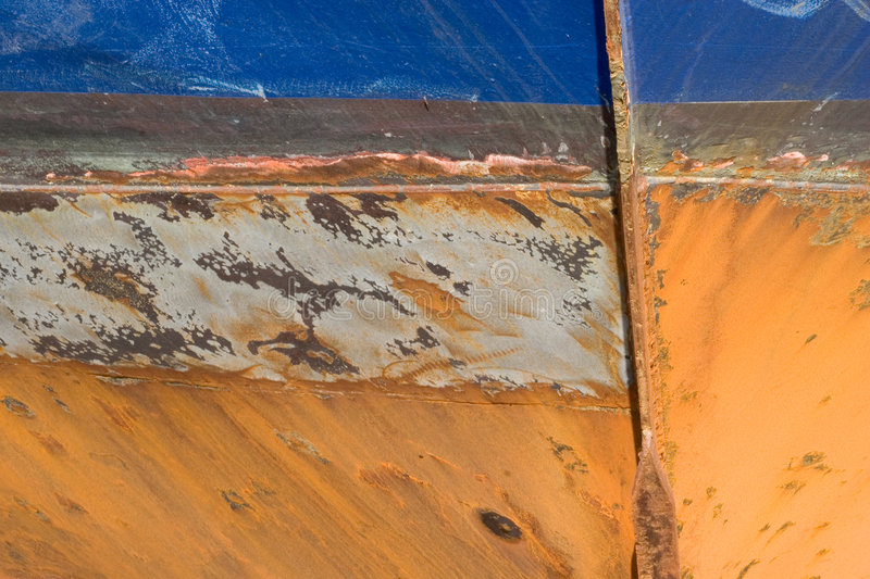 Grunge Background 27: Rusted Ship's Hull royalty free stock image