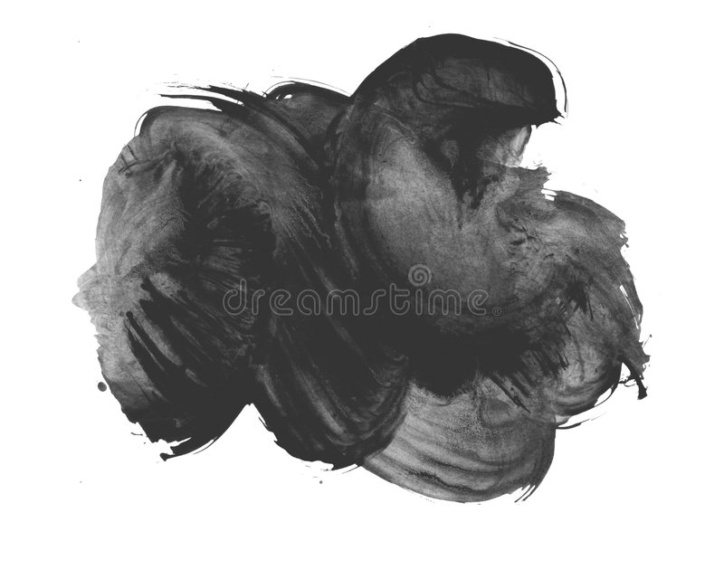 Grunge background. Black stain on white royalty free stock images