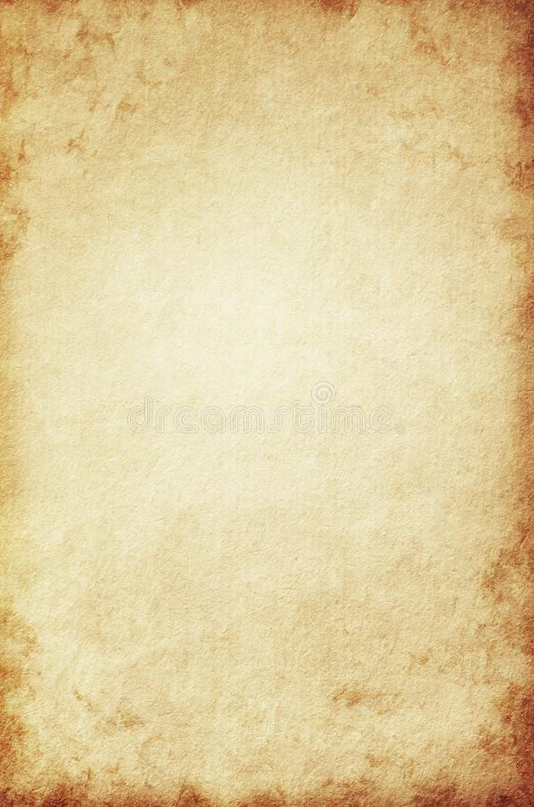 Old Brown Paper Texture Grunge Background Retro Vintage Blank Page Stock Illustration