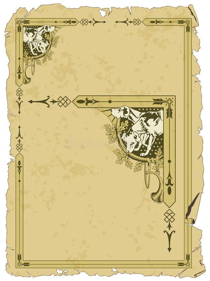 Grunge background with border on hun royalty free illustration