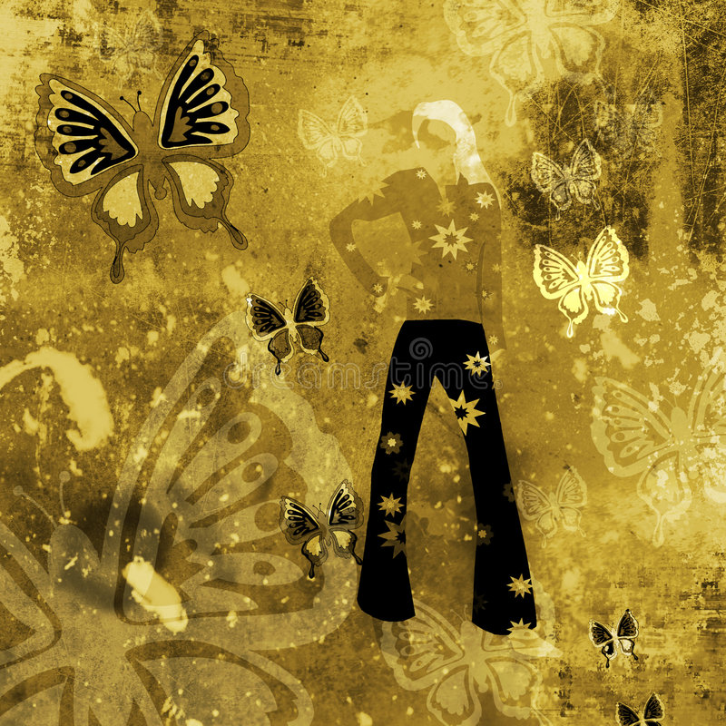 Grunge background with butterflies royalty free stock image