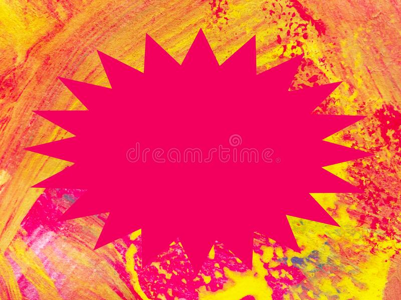 Grunge background with central star shaped copy space stock photography