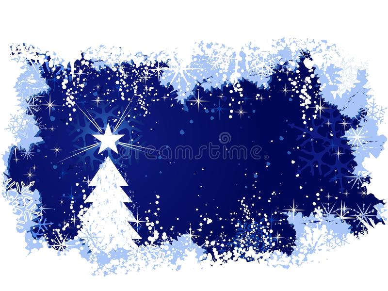 Grunge background with Christmas tree vector illustration