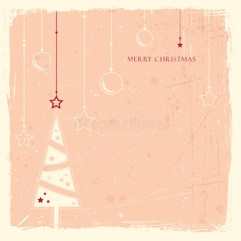 Download Grunge Background With Christmas Tree Stock Vector - Image: 27165635