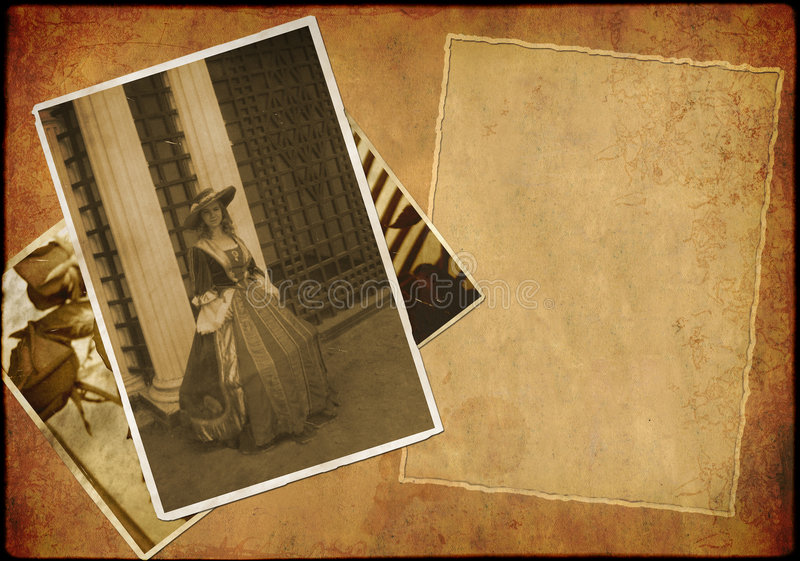 Grunge Background - Collage In Retro Style Stock Photo