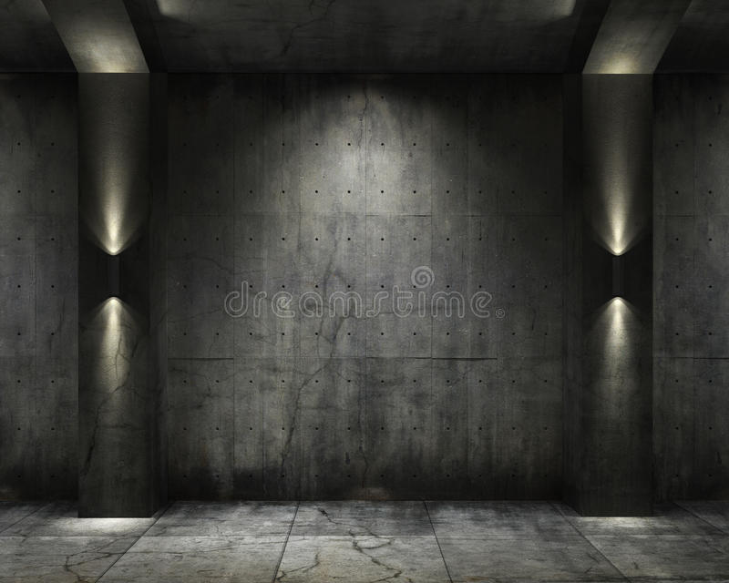 Grunge background concret vault royalty free illustration
