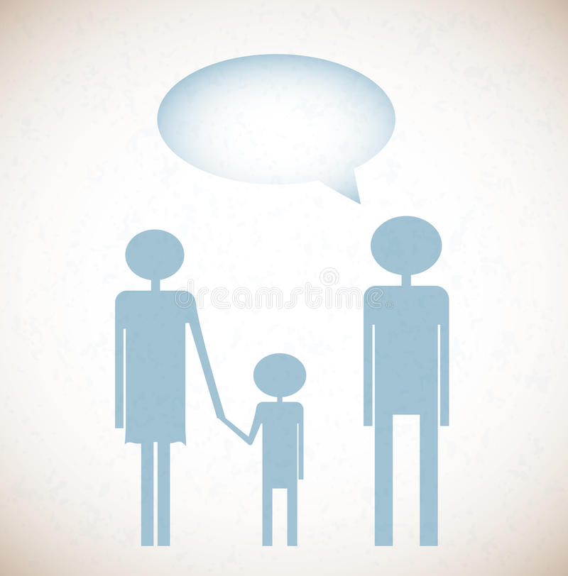 Download Grunge Background With Family And Say Bubble Stock Vector - Image: 27461252