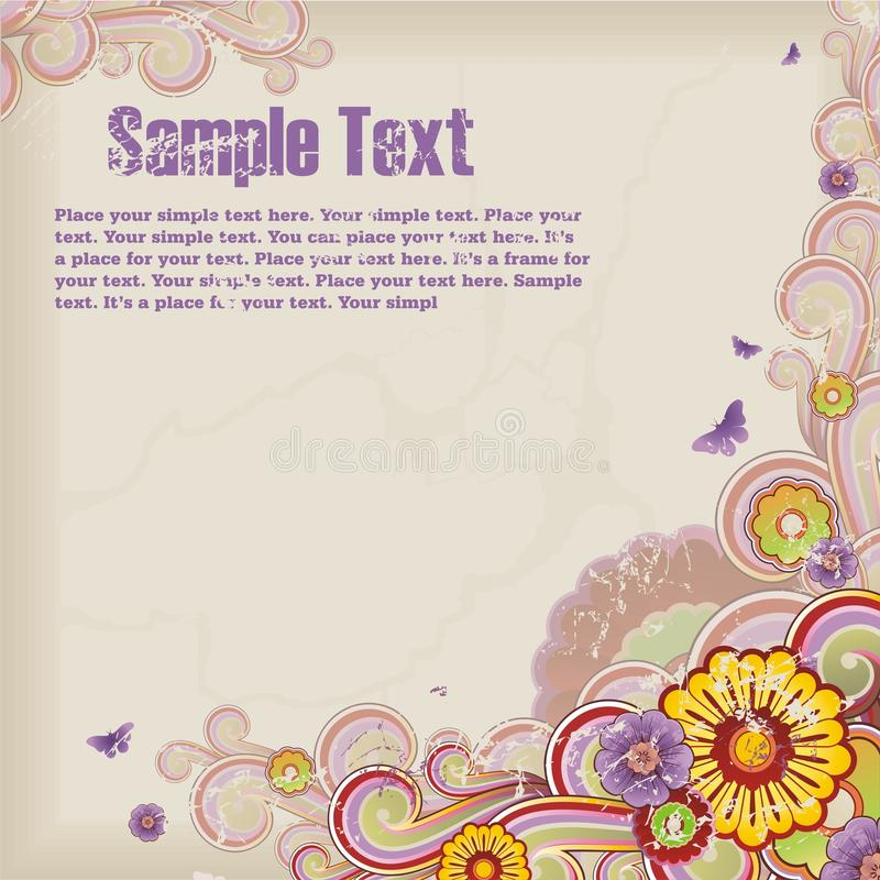 Download Grunge Background With Floral Ornament Stock Vector - Image: 10211434