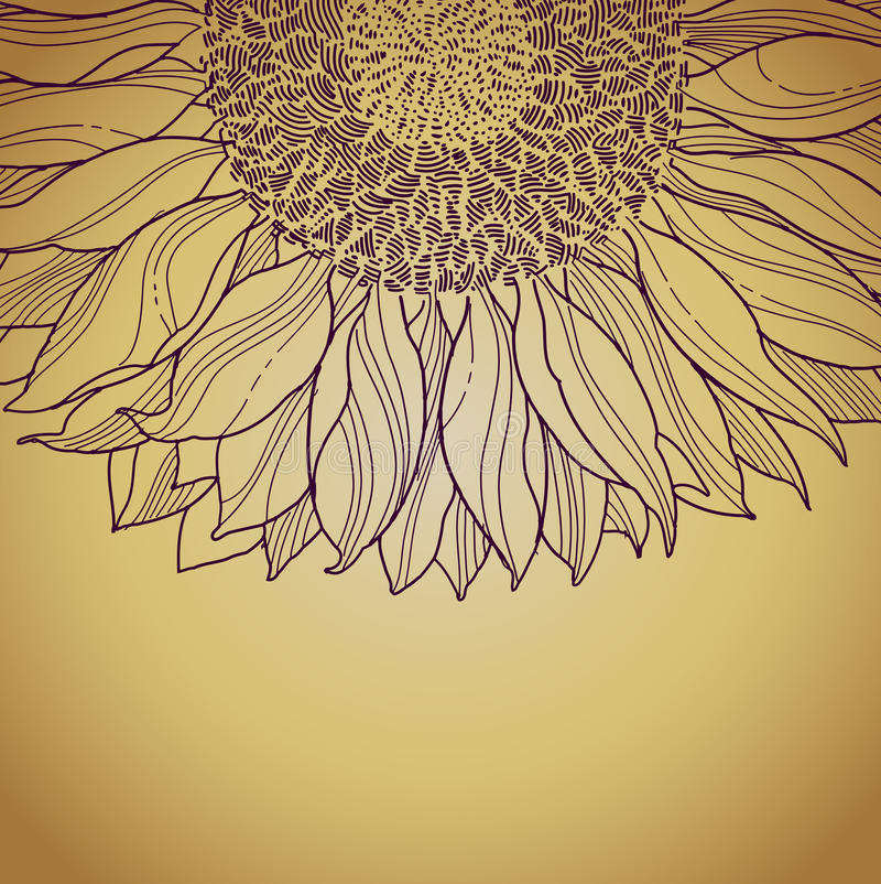 Line Art Flower Background : Grunge background with flower line art royalty free stock