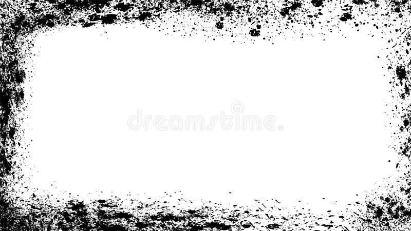 Grunge background frame, border overlay texture. Rough wallpaper vector illustration