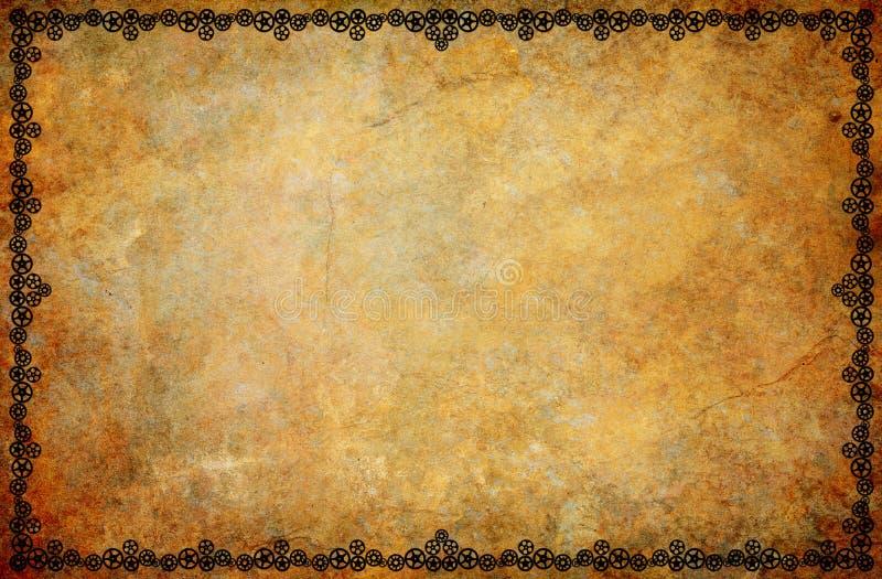 Steampunk Border Grunge Background stock illustration