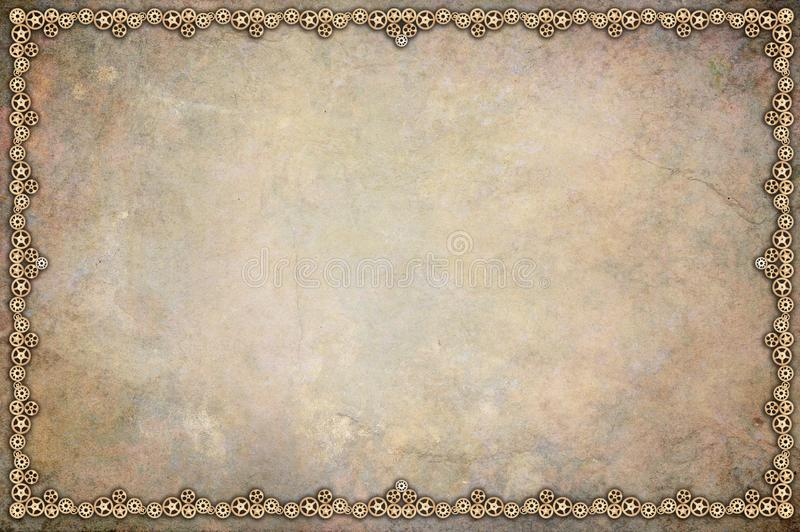 Steampunk Frame vector illustration