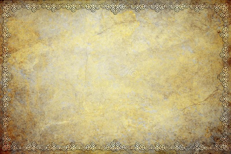 Steampunk Grunge Cogs Background royalty free illustration