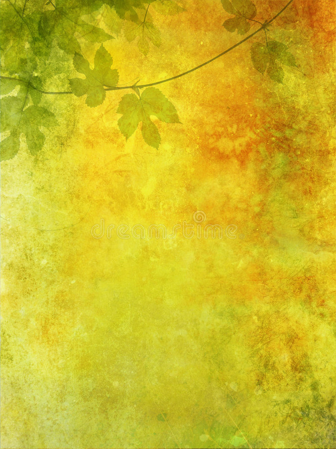 Grunge background with grape leaves royalty free illustration