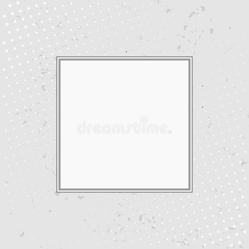 Grunge background with halftone white frame. Vector illustr. Grunge background with halftone with white frame. Vector illustration royalty free illustration