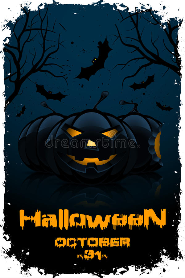 Grunge Background for Halloween Party royalty free illustration