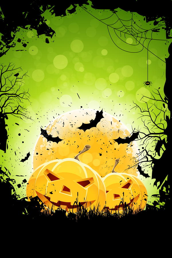 Grunge Background for Halloween Party stock illustration